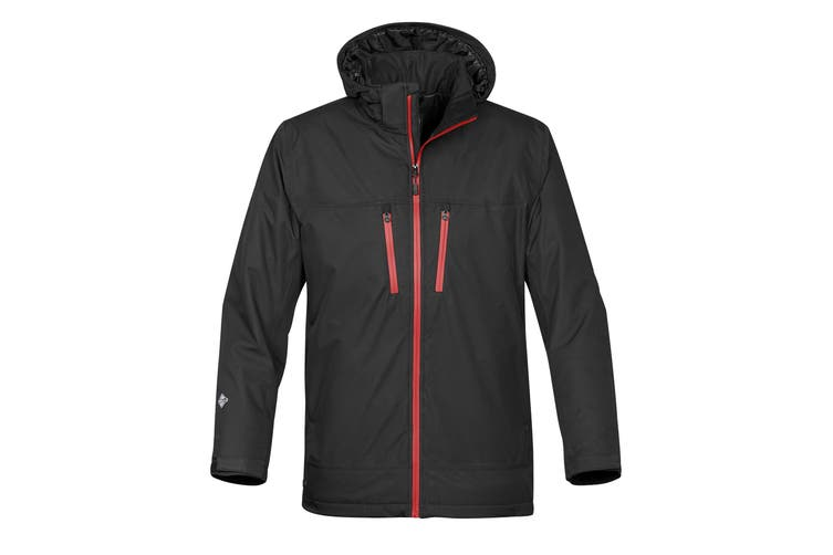 Stormtech Mens Snowburst Thermal Shell Jacket (Black/Red) (S UK)