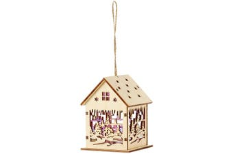 Christmas Shop Lit Wooden House (House Scene) (One Size)