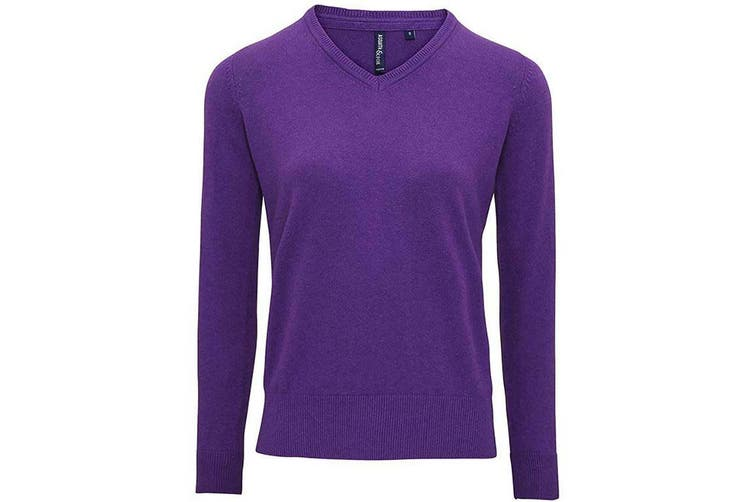 Asquith And Fox Womens/Ladies V-Neck Sweater (Purple Heather) (M)