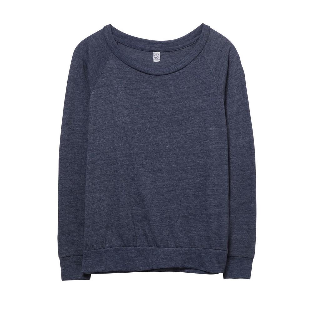 Alternative Apparel WomensLadies Eco Jersey Slouchy Pullover (Eco True Navy) (S)