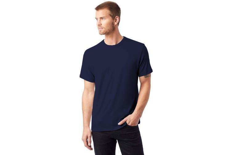 Alternative Apparel Mens Vintage 50/50 T-shirt (Navy) (2XL)