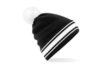 Beechfield Mens Stadium Beanie (Black/White) (One Size)