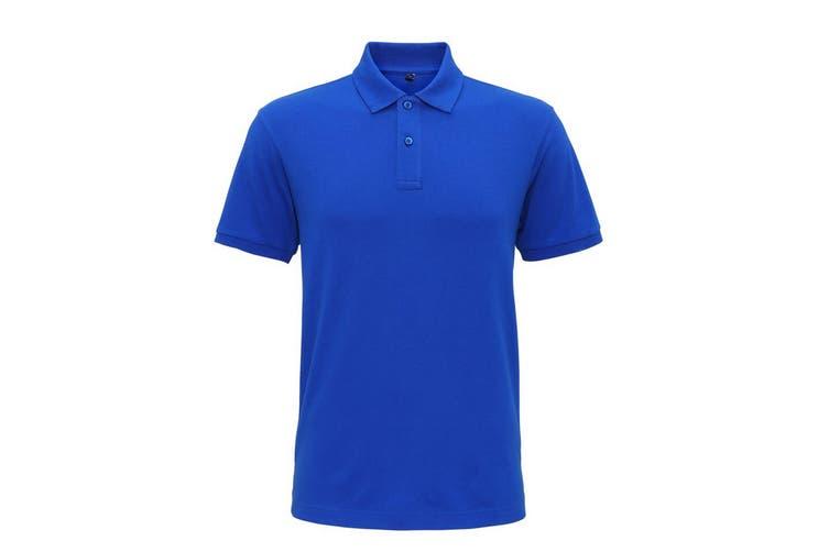 Asquith & Fox Mens Super Smooth Knit Polo Shirt (Bright Royal) (S)