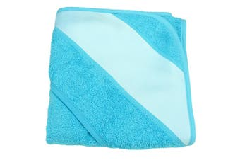 A&R Towels Baby/Toddler Babiezz Sublimation Hooded Towel (Aqua Blue) (One Size)