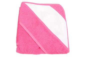 A&R Towels Baby/Toddler Babiezz Sublimation Hooded Towel (Pink) (One Size)