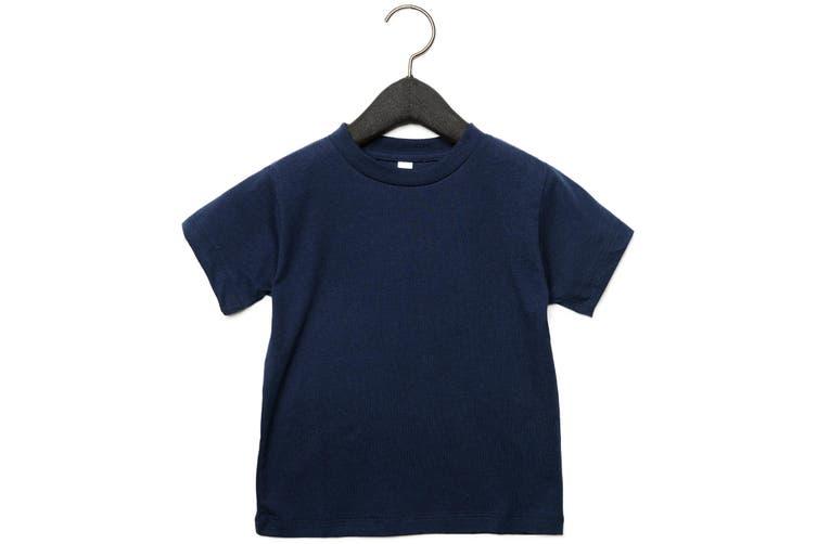 Bella + Canvas Toddler Jersey Short Sleeve T-Shirt (Navy) (2 Years)