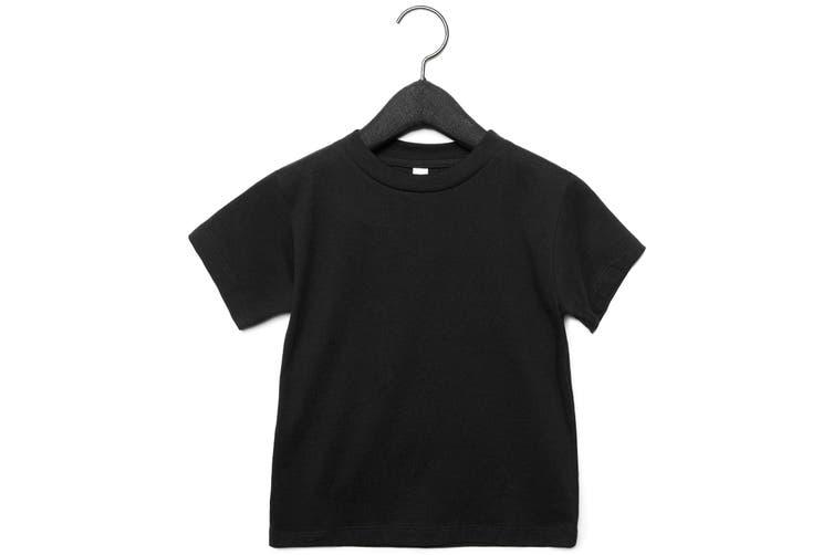 Bella + Canvas Toddler Jersey Short Sleeve T-Shirt (Black) (2 Years)