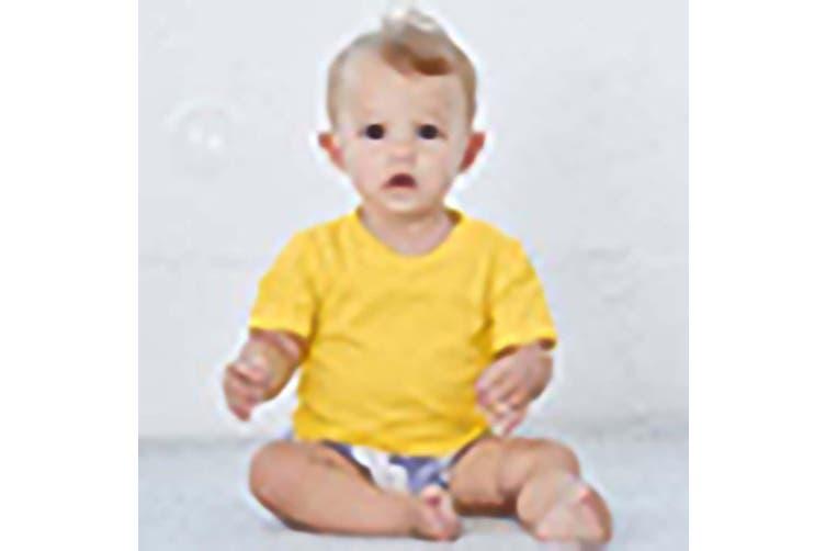Bella + Canvas Toddler Jersey Short Sleeve T-Shirt (Yellow) (2 Years)