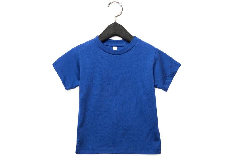 Bella + Canvas Toddler Jersey Short Sleeve T-Shirt (True Royal) (2 Years)