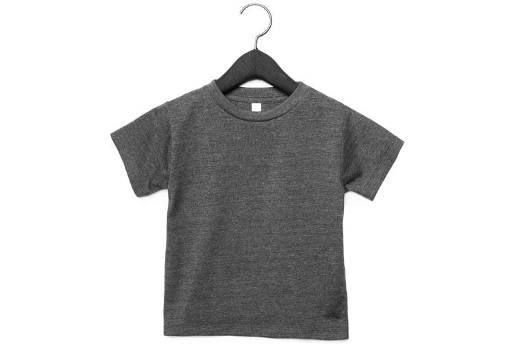 Bella + Canvas Toddler Jersey Short Sleeve T-Shirt (Dark Grey Heather) (2 Years)