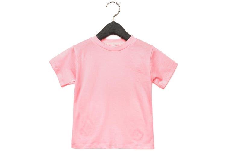 Bella + Canvas Toddler Jersey Short Sleeve T-Shirt (Pink) (4 Years)