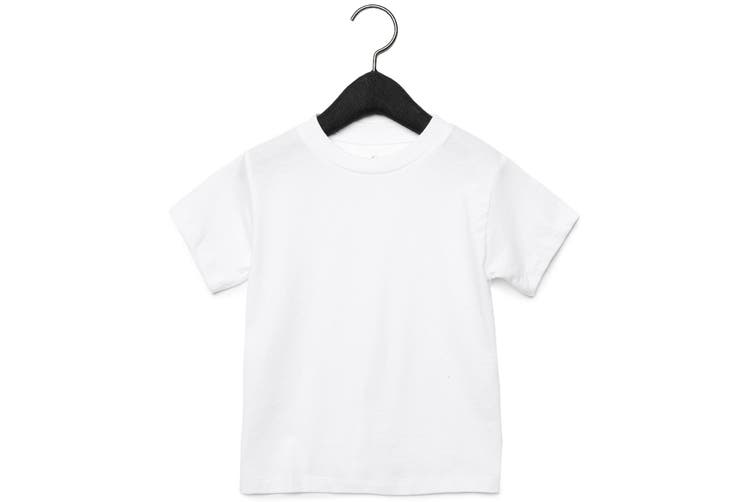 Bella + Canvas Toddler Jersey Short Sleeve T-Shirt (White) (4 Years)