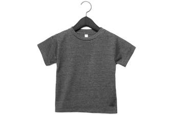 Bella + Canvas Toddler Jersey Short Sleeve T-Shirt (Dark Grey Heather) (5 Years)