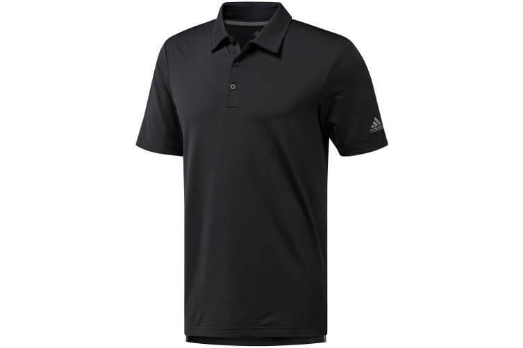 Adidas Mens Ultimate 365 Polo Shirt (Black) (S)