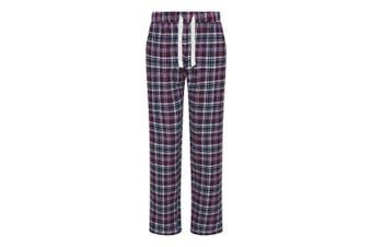 Comfy Co Womens/Ladies Gals Flannel Pyjama Pants (Navy/Pink) (S)
