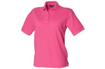 Henbury Womens/Ladies 65/35 Polo Shirt (Fuchsia) (S)