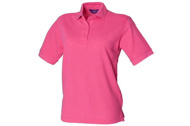 Henbury Womens/Ladies 65/35 Polo Shirt (Fuchsia) (L)