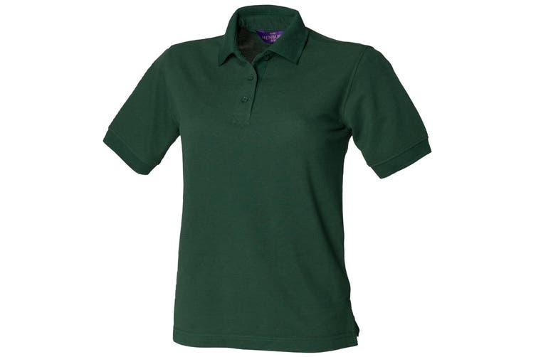 Henbury Womens/Ladies 65/35 Polo Shirt (Bottle) (L)