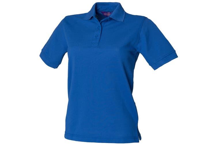 Henbury Womens/Ladies 65/35 Polo Shirt (Royal) (XS)