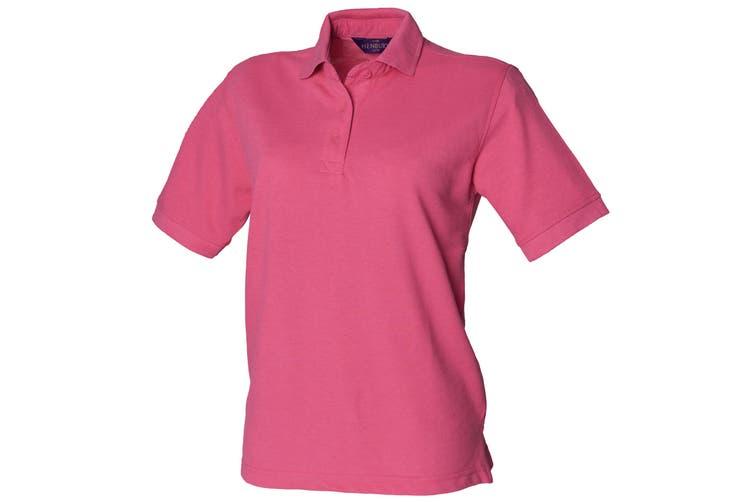 Henbury Womens/Ladies 65/35 Polo Shirt (Magenta) (2XL)