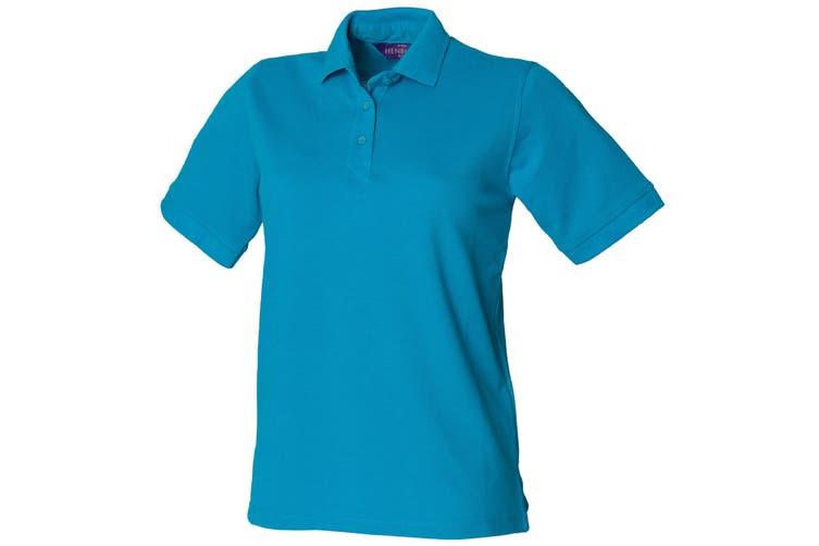 Henbury Womens/Ladies 65/35 Polo Shirt (Turquoise) (S)
