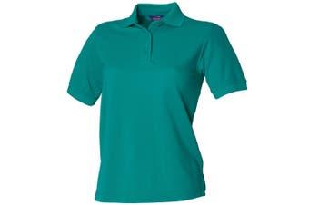 Henbury Womens/Ladies 65/35 Polo Shirt (Jade) (XS)