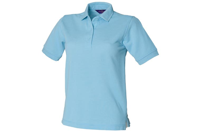 Henbury Womens/Ladies 65/35 Polo Shirt (Sky) (XL)