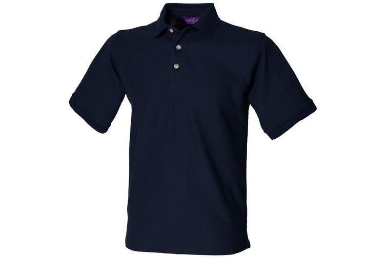Henbury Mens Ultimate 65/35 Polo Shirt (Navy) (3XL)