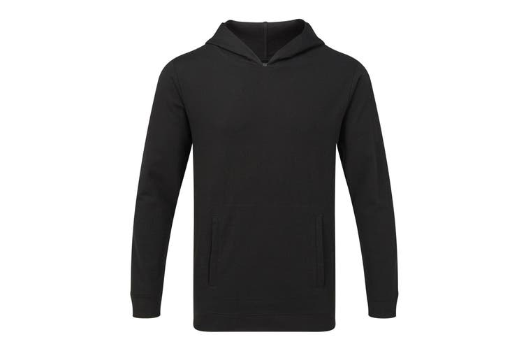 Anvil Unisex Light Terry Hoodie (Black) (XS)