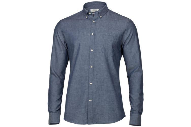 Nimbus Mens Saint Andrews Long Sleeved Shirt (Blue) (L)