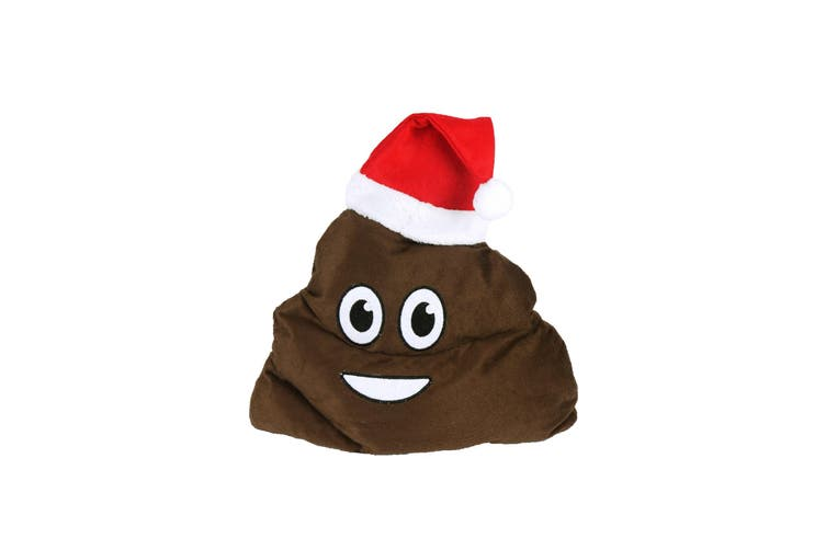 Christmas Shop Christmas Poop Hat (Brown) (One Size)