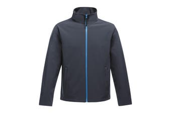 Regatta Standout Mens Ablaze Printable Softshell Jacket (Navy/French Blue) (2XL)