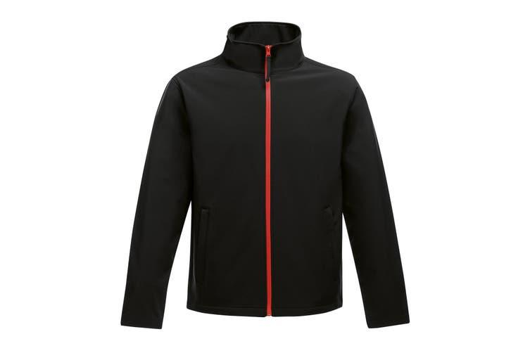 Regatta Standout Mens Ablaze Printable Softshell Jacket (Black/Classic Red) (3XL)