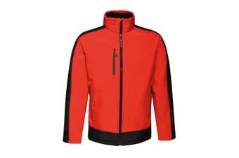 Regatta Contrast Mens 3-Layer Printable Softshell Jacket (Classic Red/Black) (3XL)
