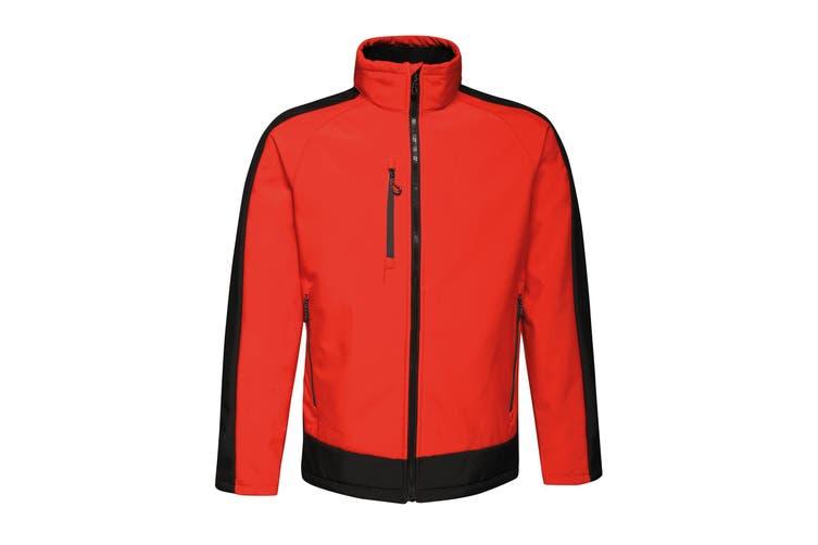 Regatta Contrast Mens 3-Layer Printable Softshell Jacket (Classic Red/Black) (4XL)
