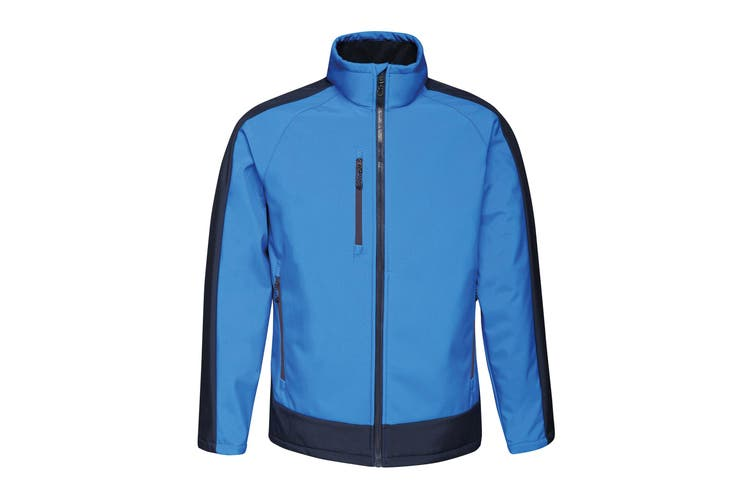 Regatta Contrast Mens 3-Layer Printable Softshell Jacket (New Royal/Navy) (S)