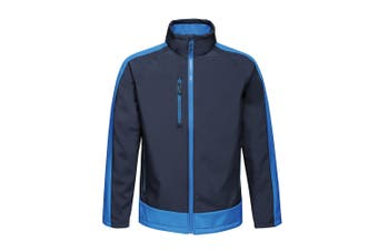 Regatta Contrast Mens 3-Layer Printable Softshell Jacket (Navy/New Royal) (L)