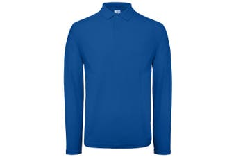B&C Collection Mens Long Sleeve Polo Shirt (Royal Blue) (XS)