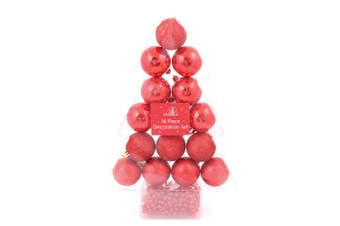 Christmas Shop 16 Piece Classic Christmas Decoration Set (Red) (One Size)