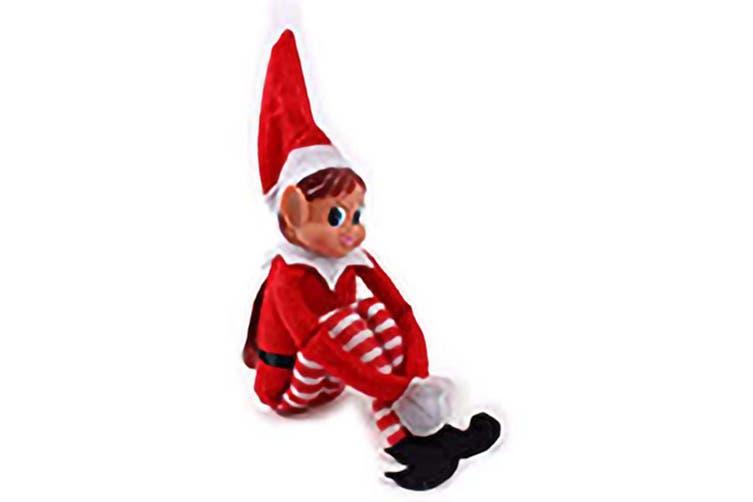 Christmas Shop 12 Inch Long Vinyl Elf Decoration (Elfie) (One Size)