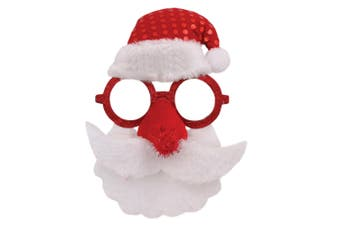 Christmas Shop Santa Face Glasses (Red/White) (One Size)