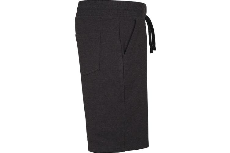 Build Your Brand Mens Terry Shorts (Black) (2XL)
