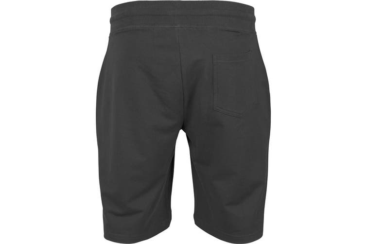 Build Your Brand Mens Terry Shorts (Charcoal) (XL)