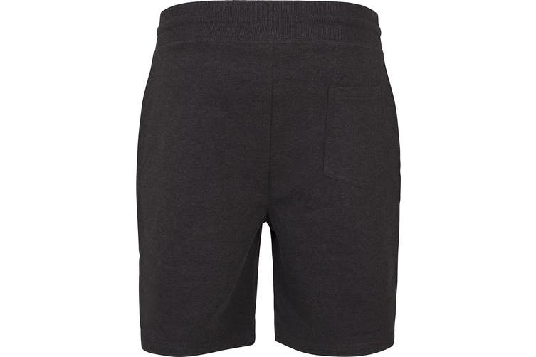 Build Your Brand Mens Terry Shorts (Black) (L)