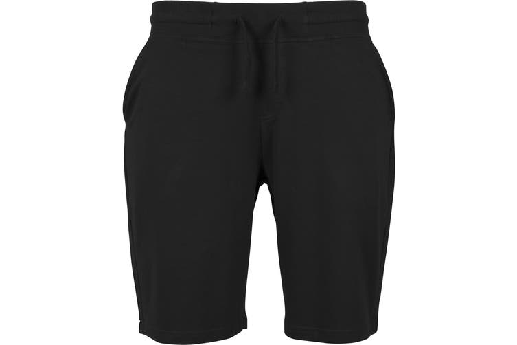 Build Your Brand Mens Terry Shorts (Black) (XL)
