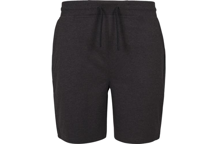 Build Your Brand Mens Terry Shorts (Charcoal) (S)
