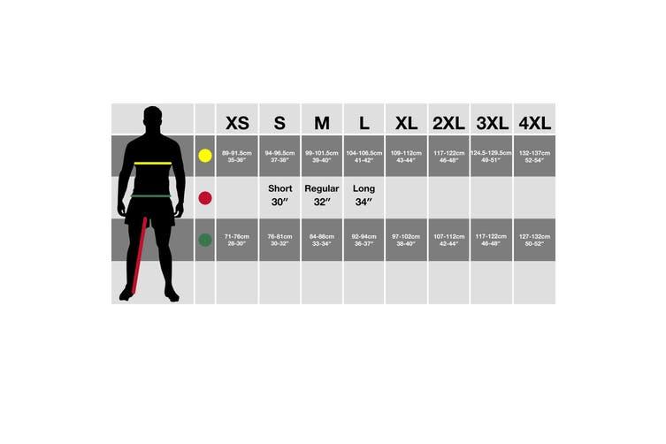 Regatta Mens Contrast Cargo Work Trousers (Black/ Classic Red) (38S)