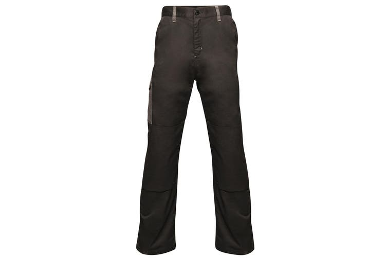 Regatta Mens Contrast Cargo Work Trousers (Black/ Seal Grey) (34S)