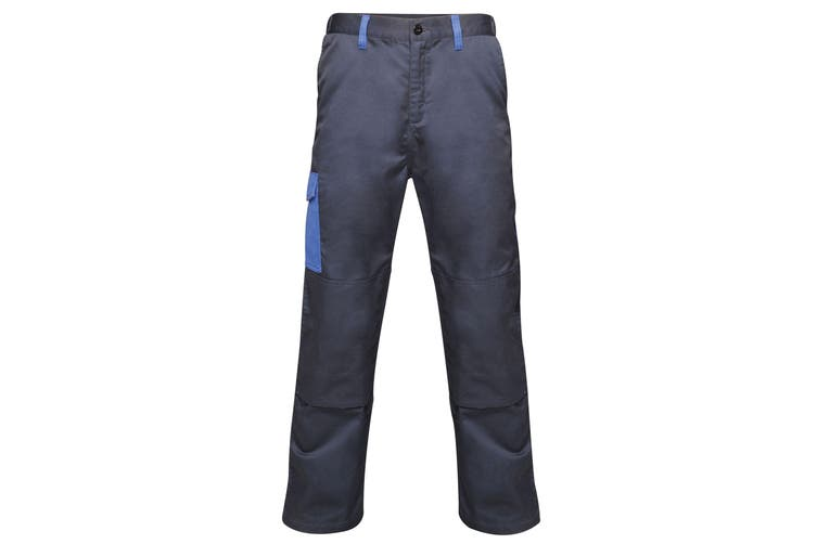 Regatta Mens Contrast Cargo Work Trousers (Navy/ New Royal Blue) (34S)