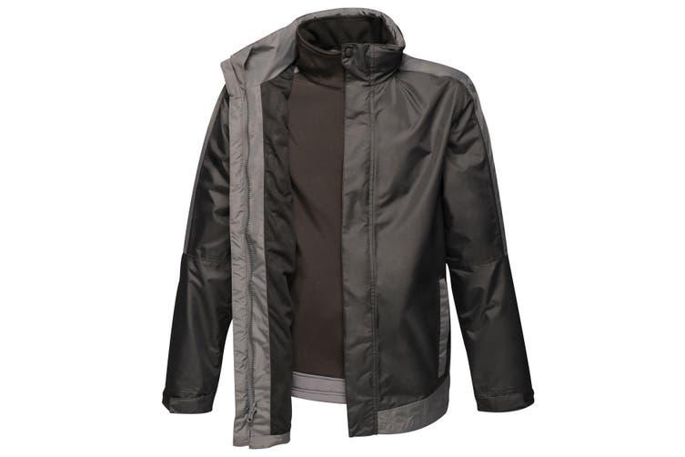 Regatta Mens Contrast 3-In-1 Jacket (Black/Seal Grey) (M)